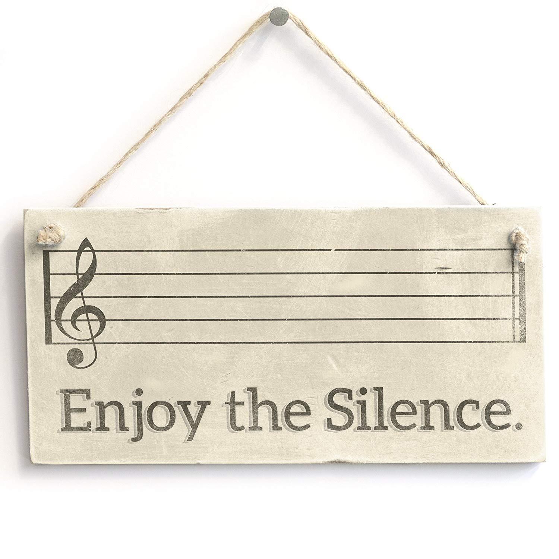 Amazon.com: WoodenSign 10x20cm Disfruta del Silencio. Hecho ...