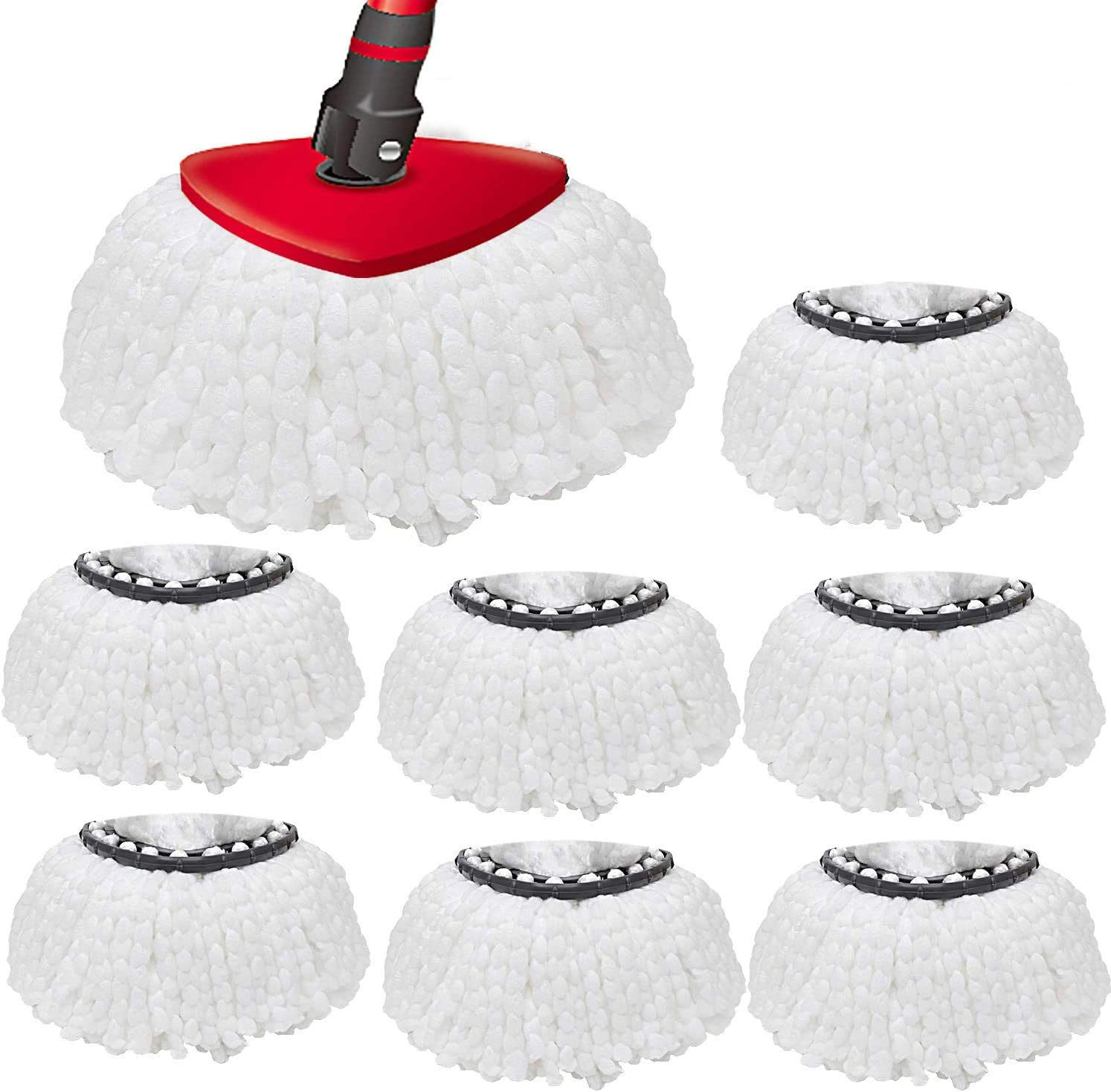 8PACK Spin Mop Replacement Heads, 100% Microfiber Mop Refill, Mop Replacement Heads for O-Ceda Spin Mop