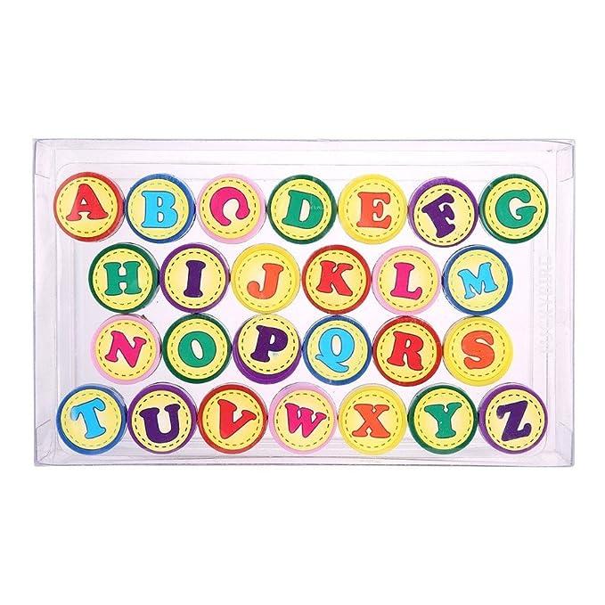Warmtree toy 26 Sellos de Letras del Alfabeto A-Z, Sellos de ...
