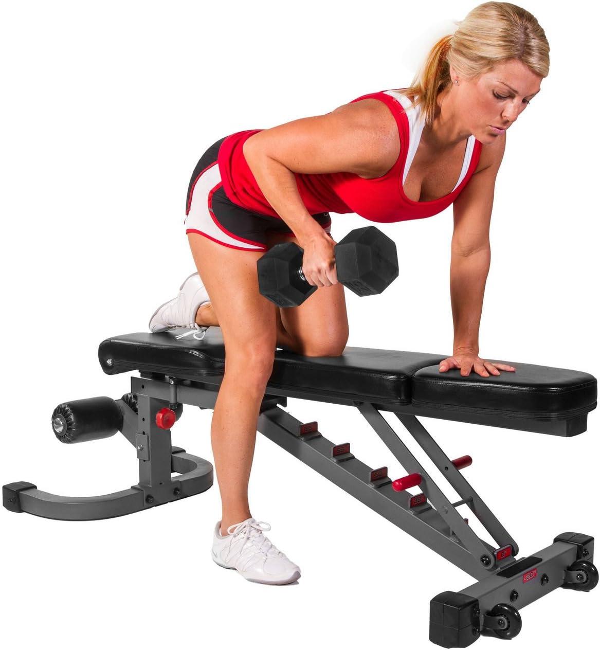 Combo ofrecen XMark Fitness Fid banco prensa (inclinación/descenso)/banco de peso ajustable con Select Tech pesos/ajustable mancuernas par con bandeja de almacenamiento, XMCombo83: Amazon.es: Deportes y aire libre