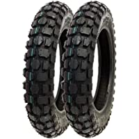 MMG Set of 2 Knobby Tire 3.00-10 Front or Rear Trail Off Road Dirt Bike Motocross Pit