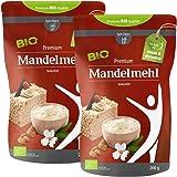 2 x borchers Bio Premium Mandelmehl | Teilentölt | Zum Kochen, Backen und für Süßspeisen | Hoher Proteingehalt | Hoher Ballaststoffgehalt | 200 g