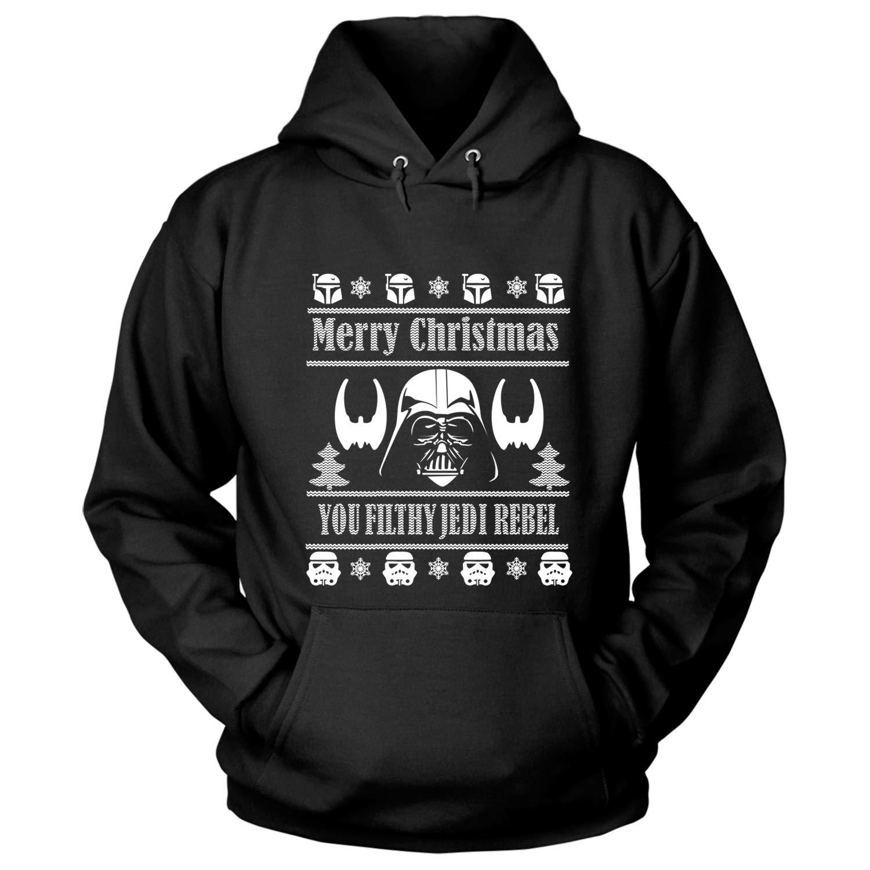 Merry Christmas T Shirt You Filthy Jedi Rebel T Shirt 3795