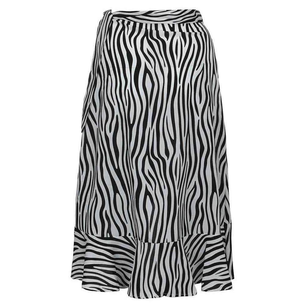 FELZ Falda Larga Mujer Falda Mujer Fiesta Falda con Estampado de ...