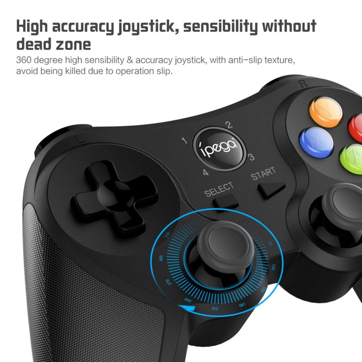 Bluetooth Gaming Joystick Gamepad, Hilos del Juego de la manija Ajustable Gaming Controller, para iOS Android Smartphone Tablets/Smart TV PC/Cajas de TV ...