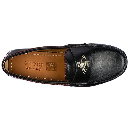 Gucci Mocasines EN Piel Hombres Nuevo Negro EU 44 497117BTRR01124: Amazon.es: Zapatos y complementos