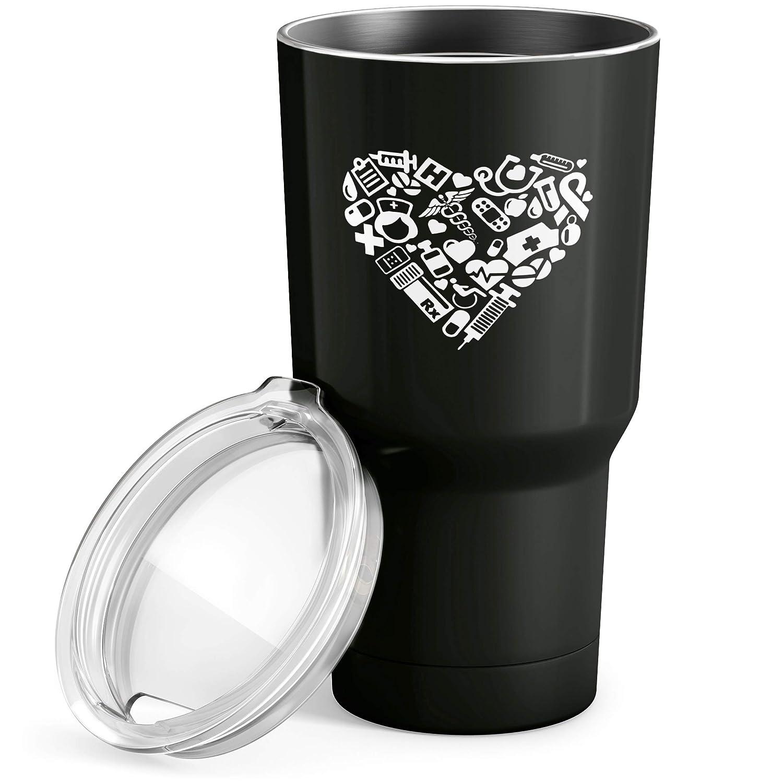 Amazon.com: Enfermera Corazón vaso de acero inoxidable con ...