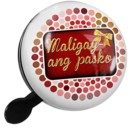 Merry Christmas In Tagalog.Amazon Com Neonblond Bike Bell Merry Christmas In Tagalog