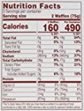 Van's Simply Delicious Whole Grain Organic Waffles, Totally Original, 6 Count