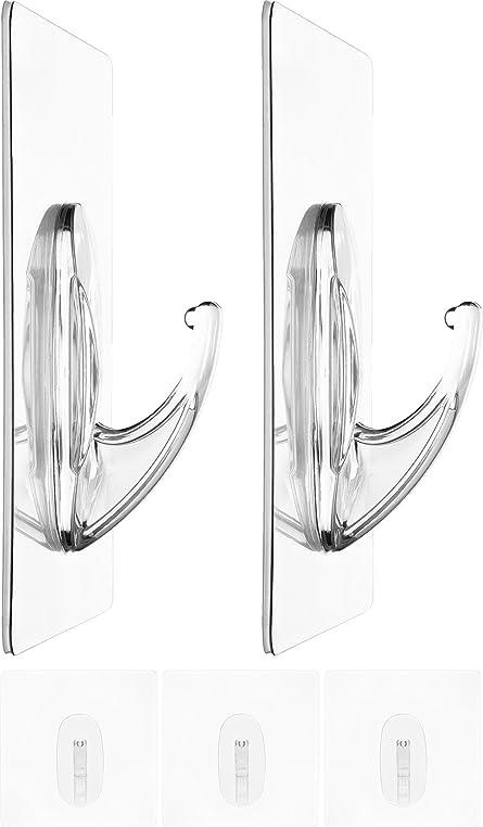 Zauber Haken 5x Jumbo 10cm | Ohne Bohren | Flexibel Einsetzbare Tür Haken |