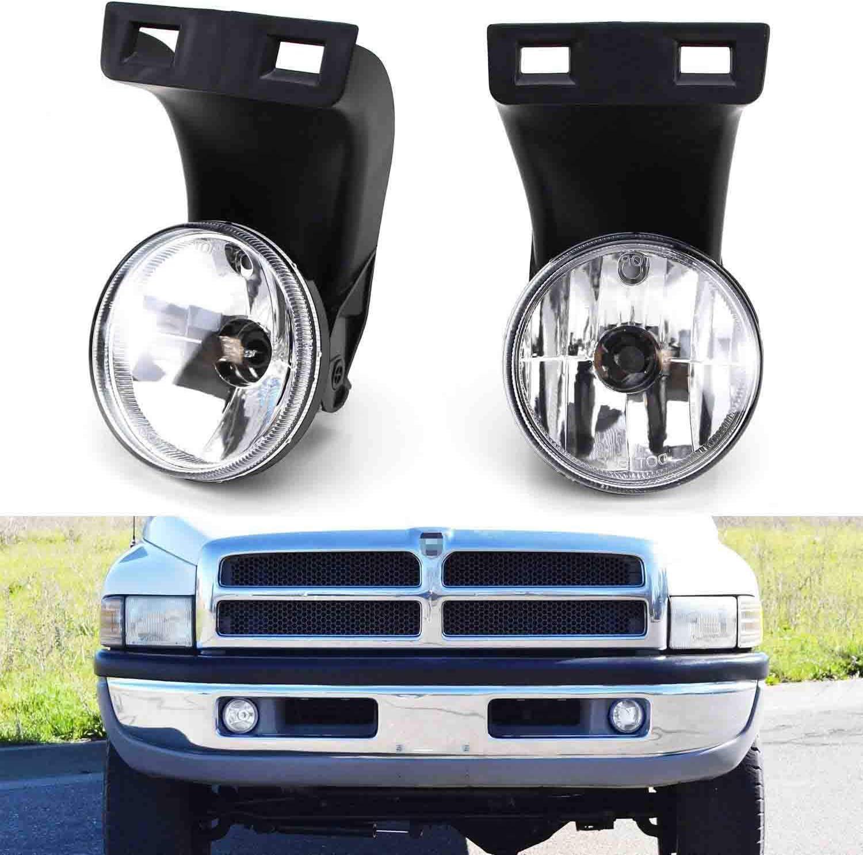 1994-2002 Dodge RAM 3500 MAYASAF DODGE Fog Light Clear Lens Replacement Fog Lamp Assembly Fit 1994-2001 Dodge RAM 1500 1994-2002 Dodge RAM 2500