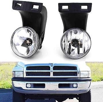 Amazon Com Ijdmtoy Complete Set Fog Lights Foglamps With 880 Halogen Bulbs Compatible With 2nd Gen 1994 2001 Dodge Ram 1500 1994 2002 Ram 2500 3500 Automotive