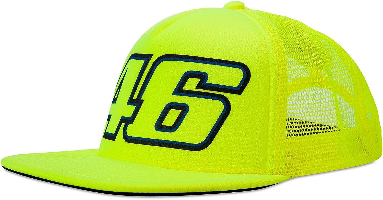 VR46 Hombre Valentino Rossi Trucker Cap Fluo Tapa, Amarillo, One ...