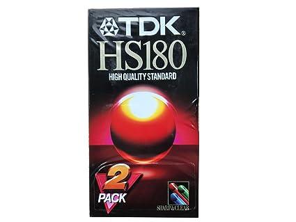 TDK HS-180 VHS cinta de casete 180 minutos de vídeo en blanco. Pack