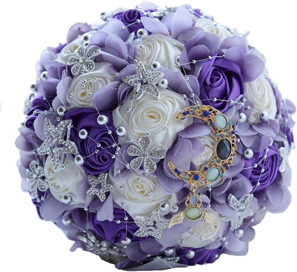 Amazon Com Luomantic Wedding Flowers Bridal Bouquets Elegant