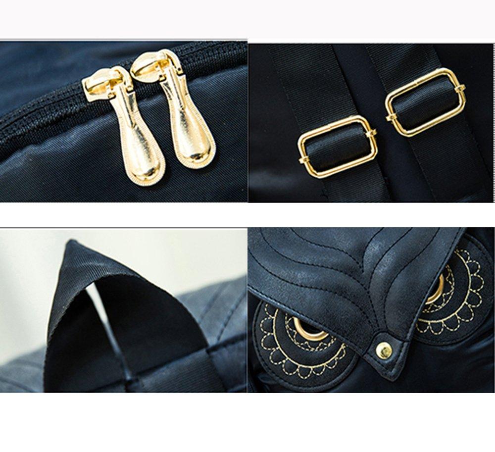Style /Étudiant Noir Hibou RETON Sac /à Bandouli/ère Sac /à Dos pour Femme