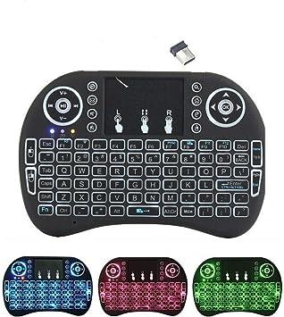 Mini teclado inalámbrico i8 de 2,4 GHz con panel táctil y ratón LED retroiluminado para PC Xbox 360, Xbox One, PS3, PS4, Google, Android, TV Box, HTPC ...