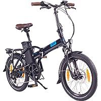"""NCM London (+) Bicicleta eléctrica Plegable, 250W, Batería 36V 15Ah/19Ah 540/Ah684Wh, 20"""""""