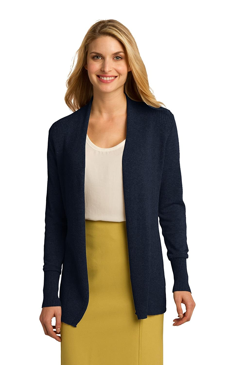 Port Authority Women's Soft Open Front Cardigan Sweater at Amazon ...