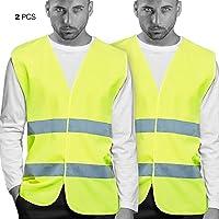 Chalecos de Seguridad amarillo Reflectante. Doble Cinta Reflectiva