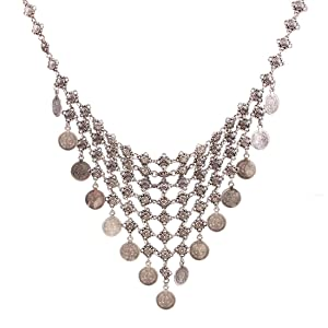 Coin Explosion models exaggeration fashion retro false collar necklace