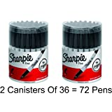 2 x Sharpie Permanent Markers, Fine Point, Black, Box of 36