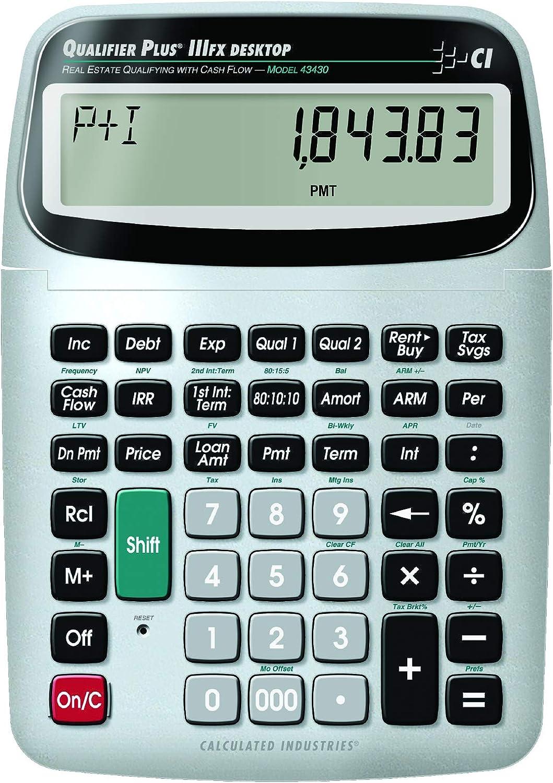 Calculated Industries 43430 Qualifier Plus IIIFX DT Financial Calculator
