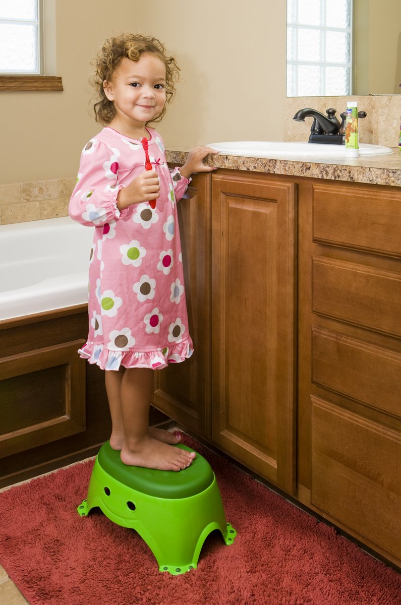 Mommy's Helper Step Up Non-Slip Stepstool Froggie Collection, Green Mommys Helper 13007