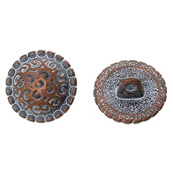 Bekleidung 13mm antikkupfer Näh 10 Ösenknöpfe Metall-Knöpfe ca Keltic Flower