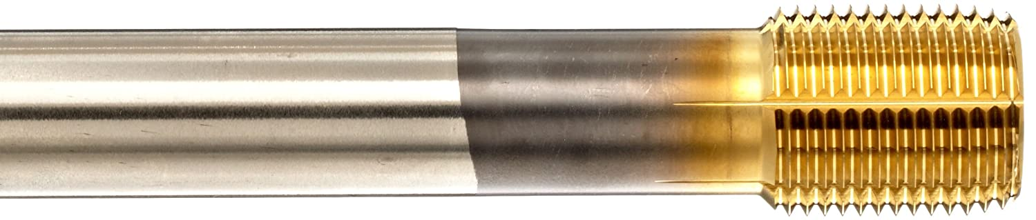 Coolant Through 12mm Size Semi Bottom Round with Square End 1.75 M Pitch Precision Dormer 46204993 Union Butterfield Applix 1697AP HSS High Performance Thread Forming Multi-Application Lube Grooves Taps TiN Coated