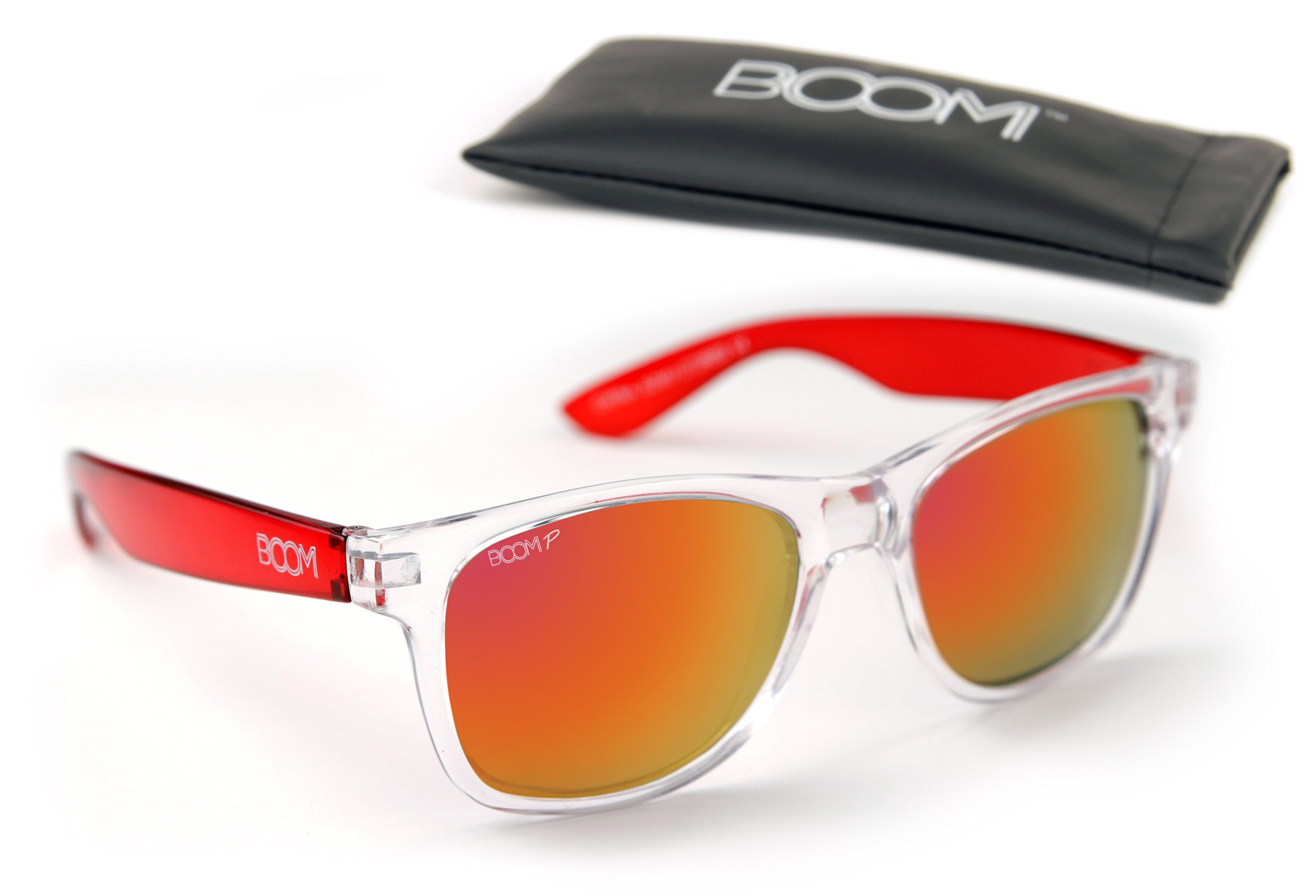 BOOM SPECTRUM Polarized Sunglasses - CHERRY BOMB