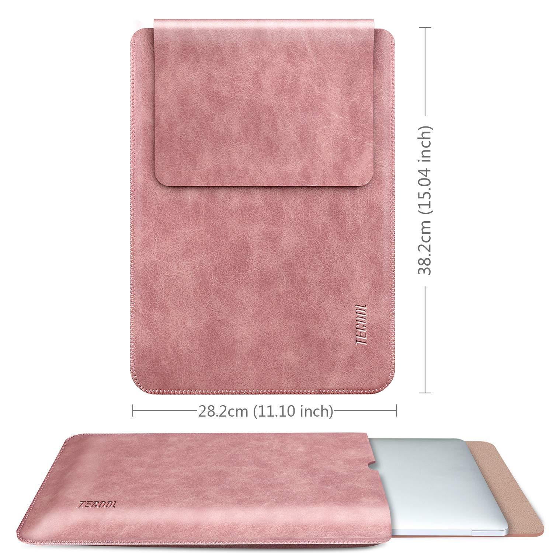 Funda de Cuero Protectora Bolsa Ordenador Laptop Sleeve para MacBook Air 13 // MacBook Pro 13.3 Retina ASUS Flip C302CA Tecool 13 Pulgadas Funda Port/átil DELL XPS 13 HP Envy x360 Negro Oscuro