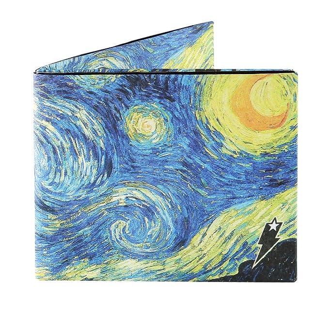 unisex tyvek wallet starry night design by supervek at amazon