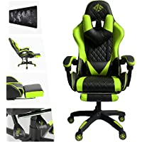AUSELECT Gaming Chair Ergonomic Racing Style Office Chair (Black and Green)