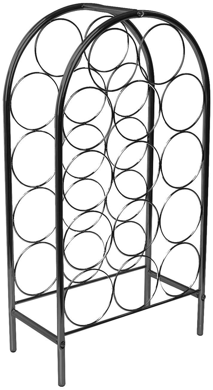 Sorbus Wine Rack Stand Bordeaux Chateau Style - Holds 14 Bottles of Your Favorite Wine - Elegant Storage for Kitchen, Dining Room, Bar, or Wine Cellar (14 Bottle - Black) by Sorbus (Image #4)
