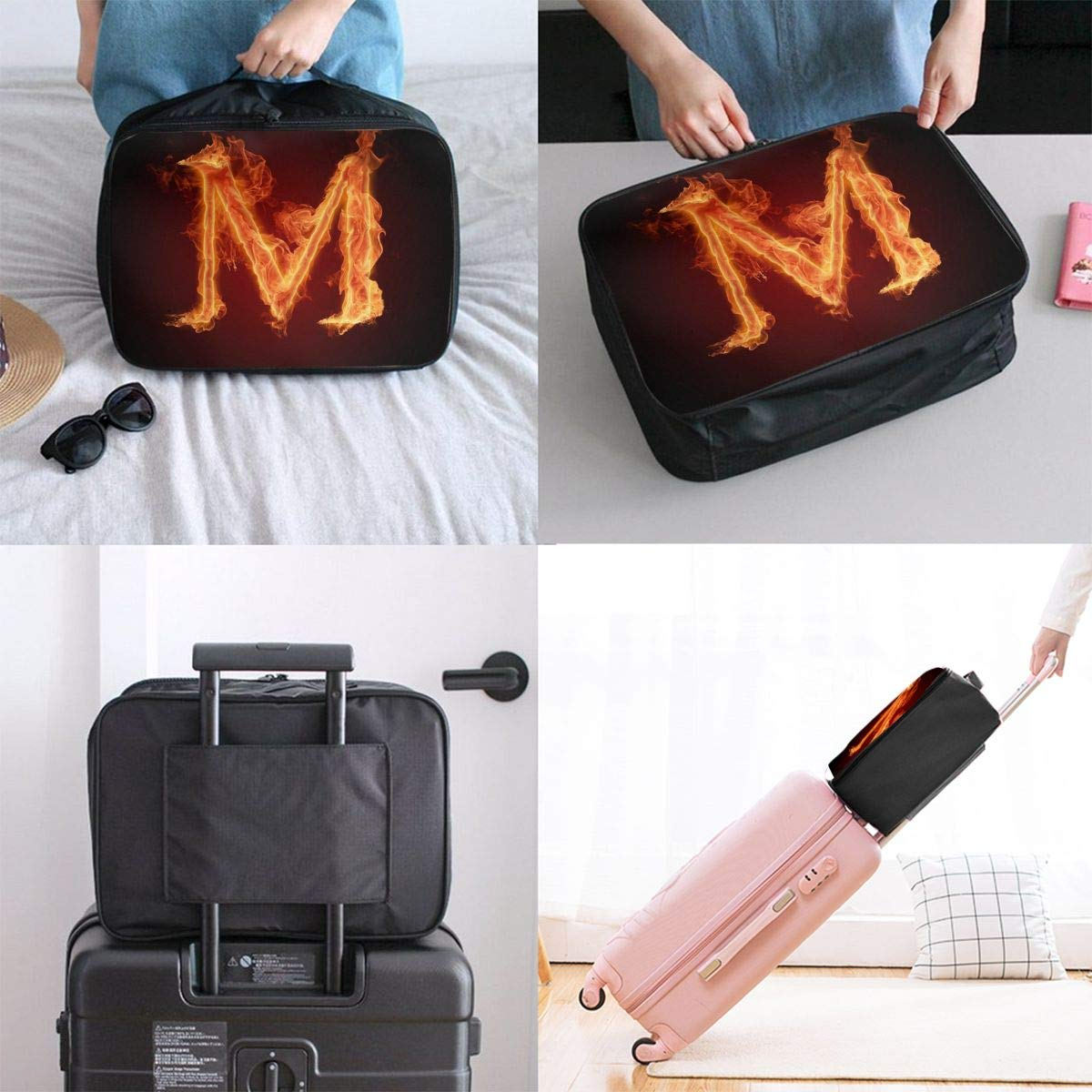 Travel Bags The Periodic Table Of The Elements Portable Storage Trolley Handle Luggage Bag