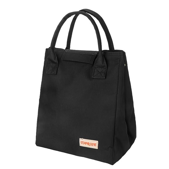 ad9c4f8e35 Borsa Pranzo Termica Lunch Box Impermeabile Borsa Porta Pranzo Tote Cooler  Bag per Ufficio Uomo e Donna da Pingenaneer (Nero): Amazon.it: Casa e cucina