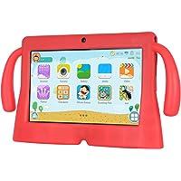 Xgody 7 Pulgadas HD Android Kids Tablet para niños Quad Core Android 8.1 1 GB RAM 16 GB ROM Pantalla táctil con WiFi Pre-Loaded 3D Game Dual Cámara Rojo
