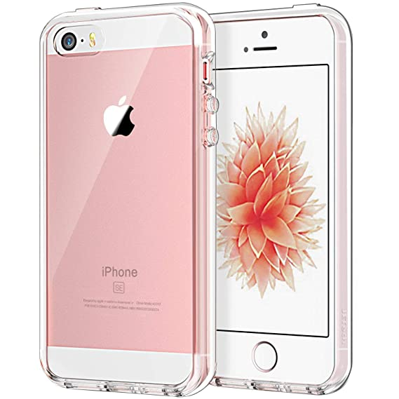 buy popular 18d81 c691d JETech Case for Apple iPhone SE 5S 5, Shock-Absorption Bumper Cover,  Anti-Scratch Clear Back, Crystal Clear