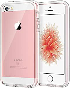JETech Case for Apple iPhone SE (2016 Edition), iPhone 5s and iPhone 5, Shockproof Bumper Cover, Anti-Scratch Clear Back, Crystal Clear