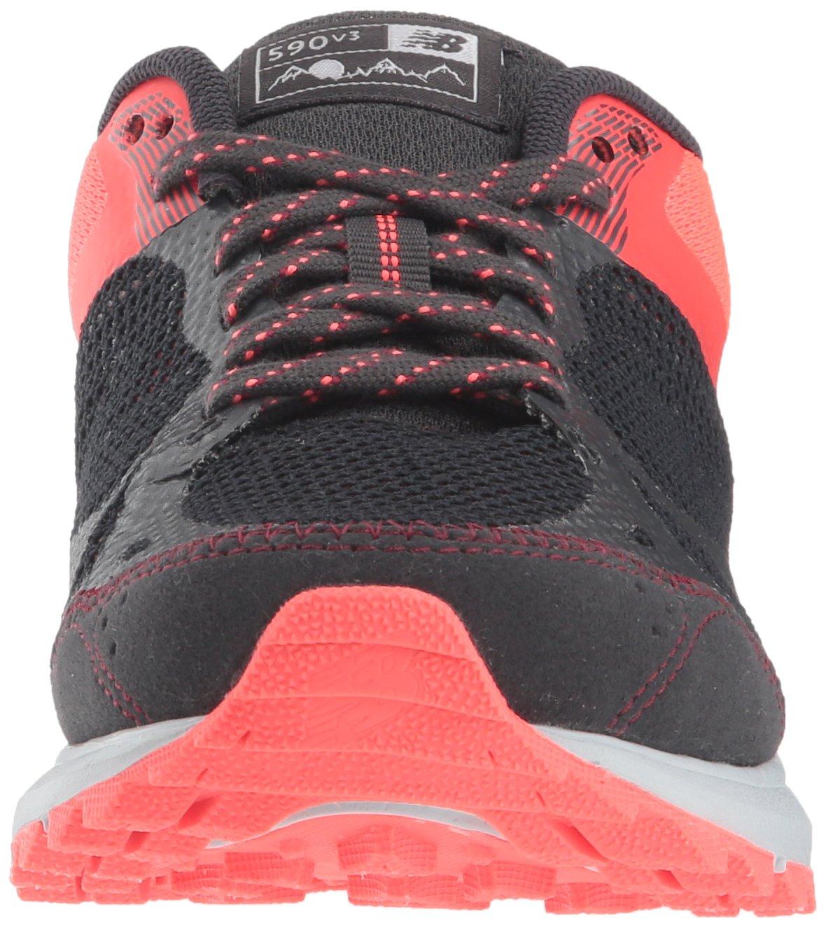 New Balance Women's 590v3 Running Shoe B077MHZ8YQ 10 D US|Black/Pink