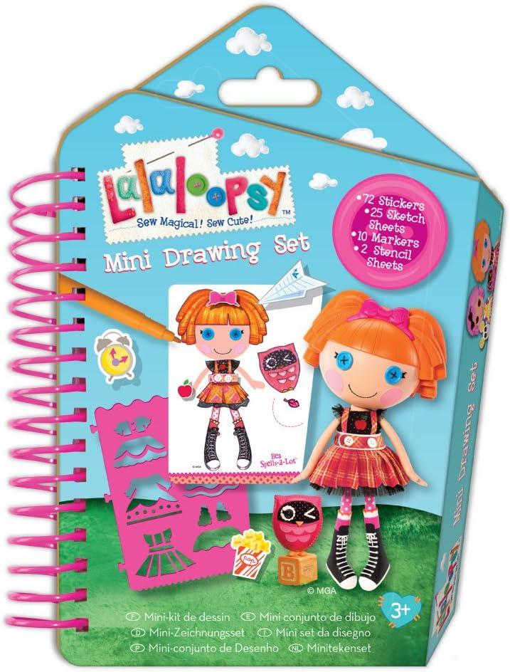 Lalaloopsy Mini Drawing Set 72Stickers 25 Sketch Sheets Stencils /& Markers