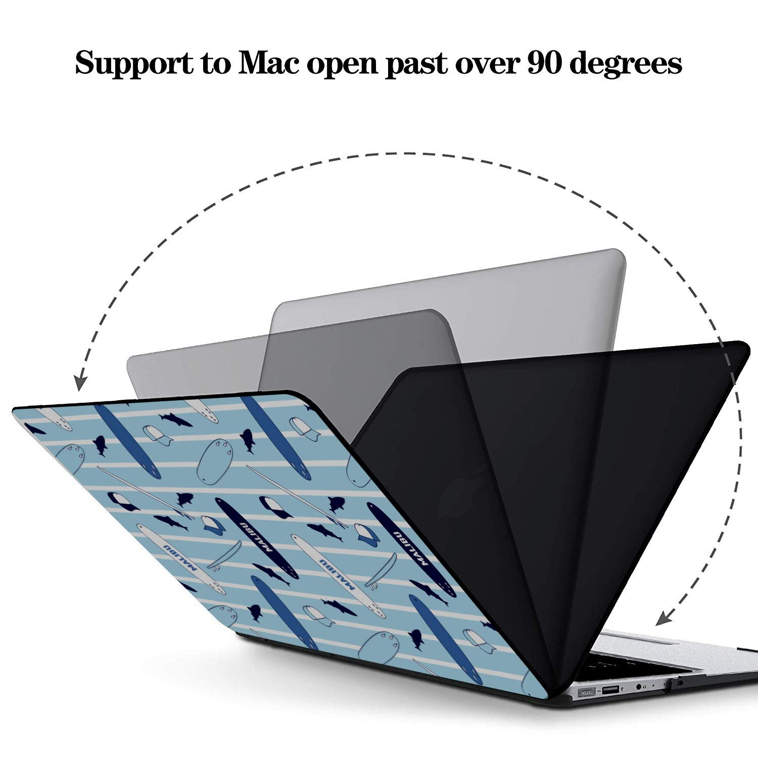 MacBook Pro Shell Case Rowing Hand-Painting Sports Custom Plastic Hard Shell Compatible Mac Air 11 Pro 13 15 Case MacBook Air Protection for MacBook 2016-2019 Version