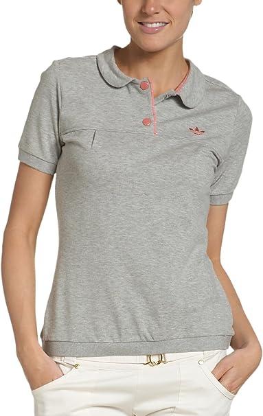 adidas Basics Premium de Las Mujeres Camiseta Polo, Mujer, Gris ...