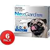 NexGard Dog Flea & Tick Control Chews for Dogs 4.1 - 10kg - 6 Pack