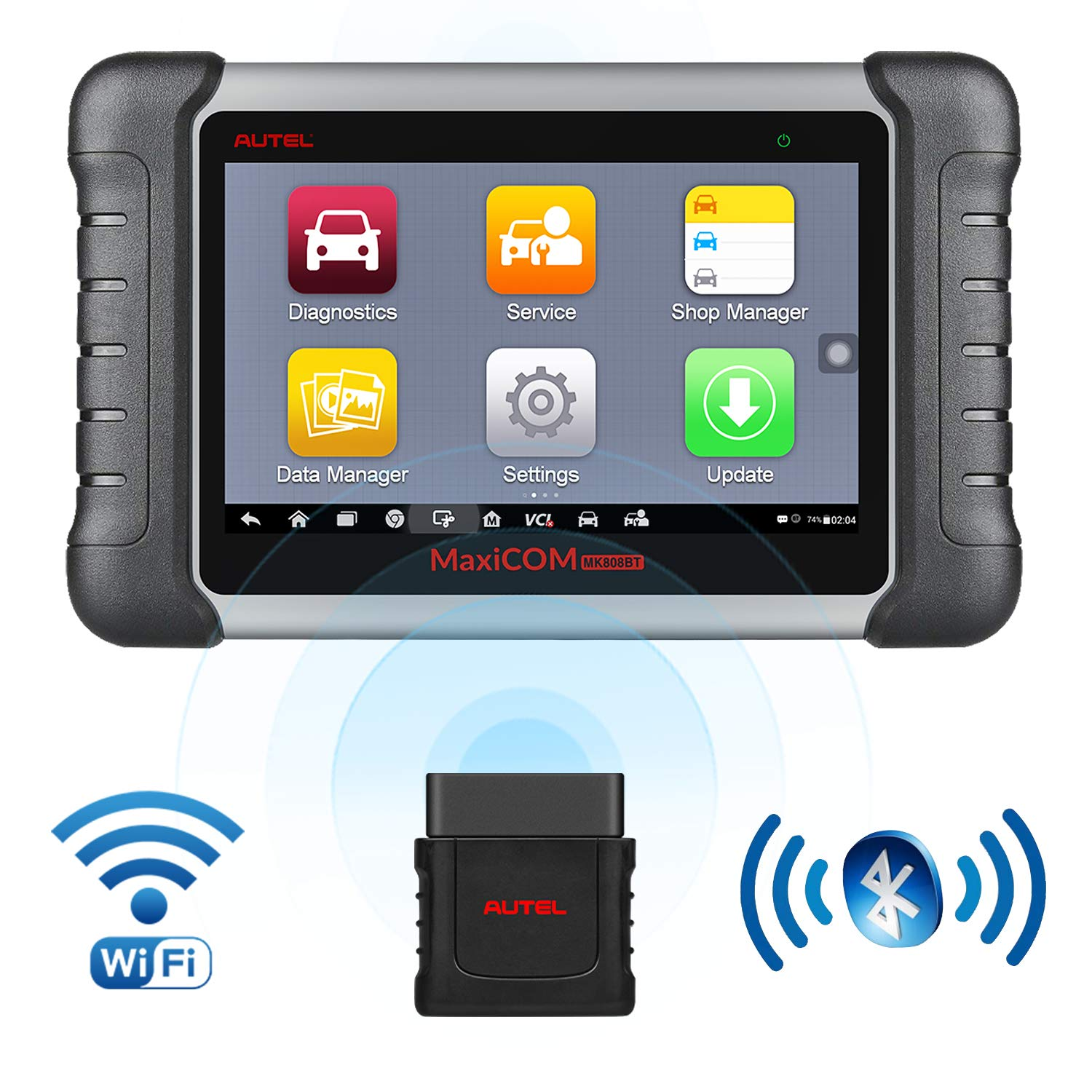 Autel OBD2 Scanner MaxiCOM MK808BT Diagnostic Tool, Upgraded Version of MK808, with MaxiVCI Supports Full System Scan & IMMO/EPB/SAS/BMS/TPMS/DPF by Autel (Image #1)