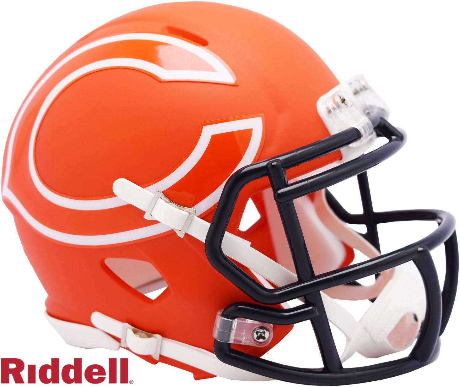 NAVY BLUE *CUSTOM* CHICAGO BEARS Riddell SPEED Football Helmet Facemask
