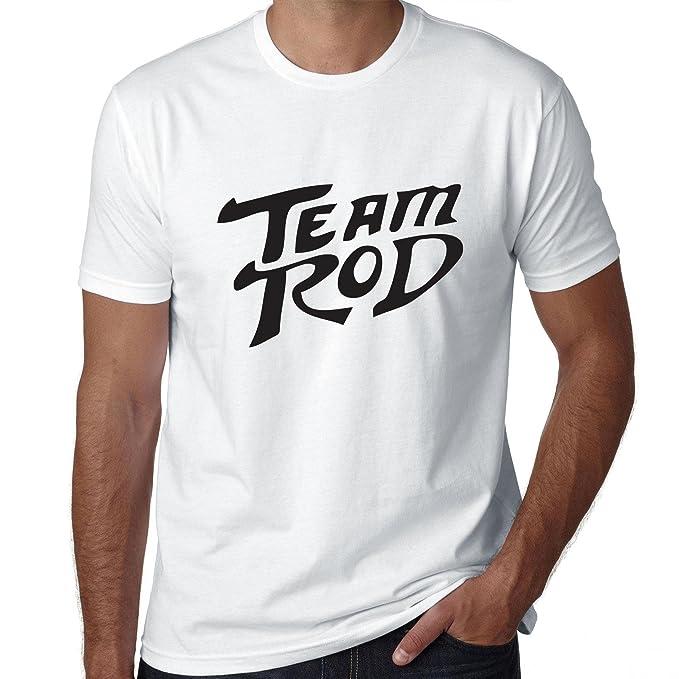 Rod sujetadores de plástico de equipo de - Apoyo para hombre 100% algodón camiseta: Amazon.es: Ropa y accesorios