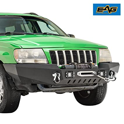 EAG Off Road Front Bumper With LED Lights For 99 04 Jeep Grand Cherokee