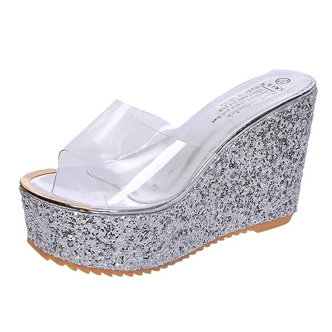 LiucheHD Elegante Sandalo Pantofole Con Tacco Alto Donna Estivi